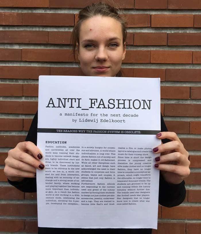 'De dood van de mode leidt tot honger naar iets nieuws: de Emancipatie van Alles'
