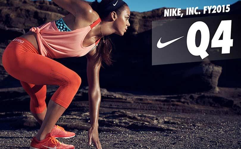 Nike boekt omzetstijging van 10 procent in 2015