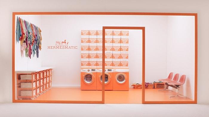 Hermès opent 'wasstraat' in de Bijenkorf in Amsterdam