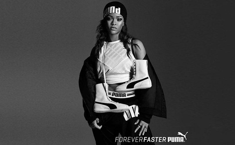 Rihanna showt Fenty Puma tijdens Paris Fashion Week