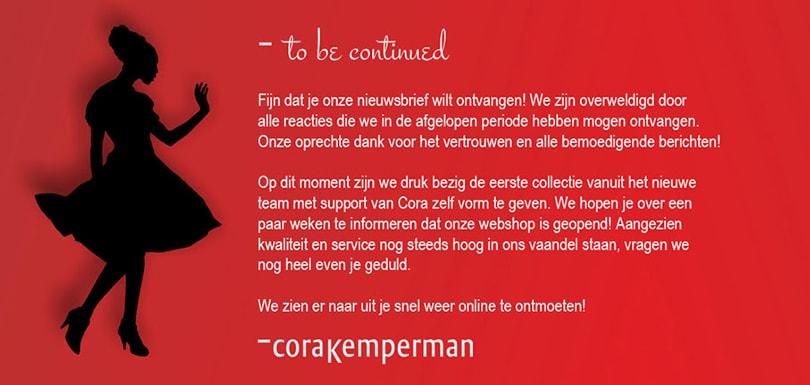 Webshop Cora Kemperman gaat binnen een paar weken open