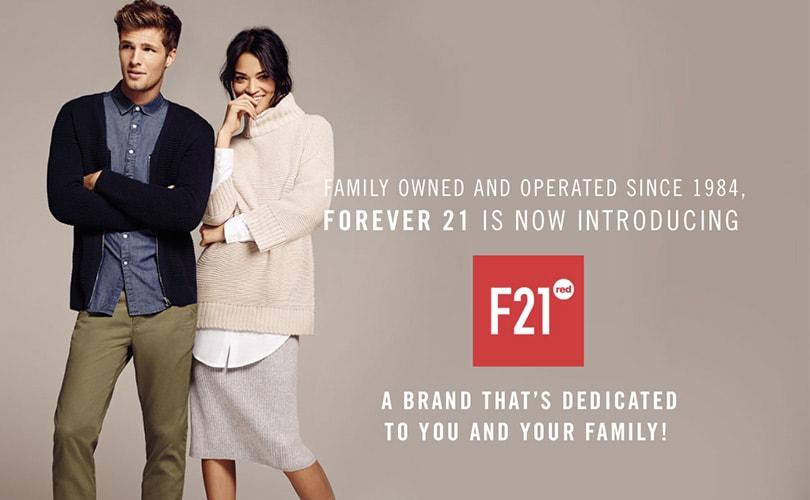 Forever21 breidt F21 Red concept verder uit
