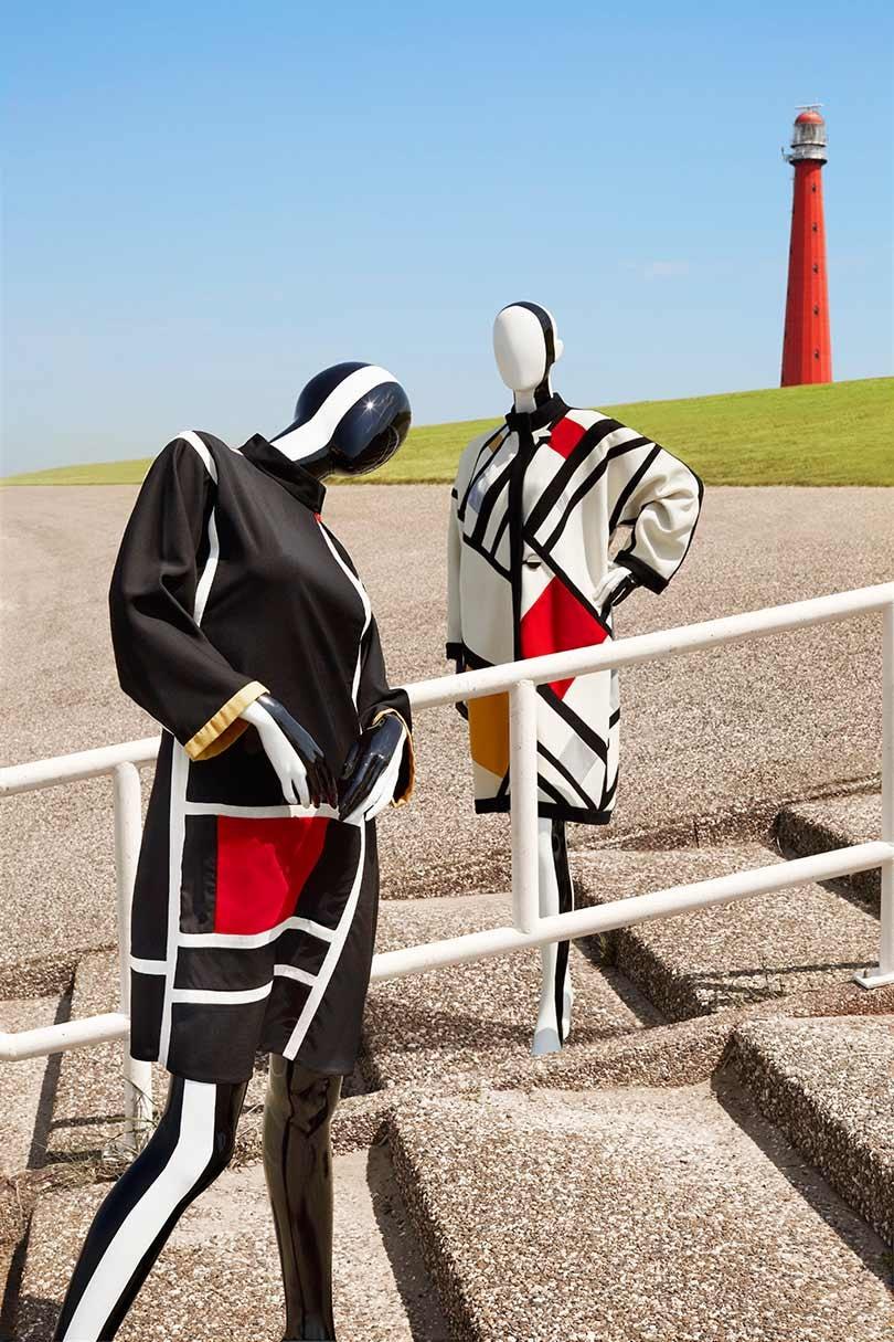 In beeld: Mondriaan-mode in het Gemeentemuseum