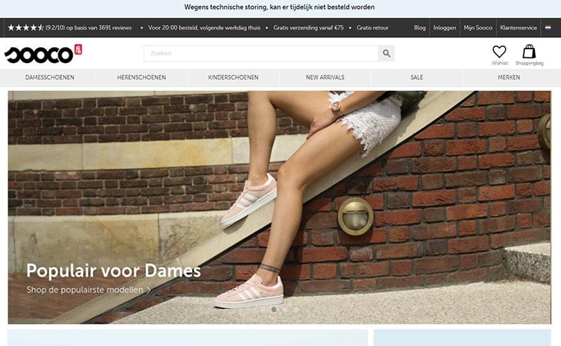 Schoenenwebshop Sooco failliet verklaard