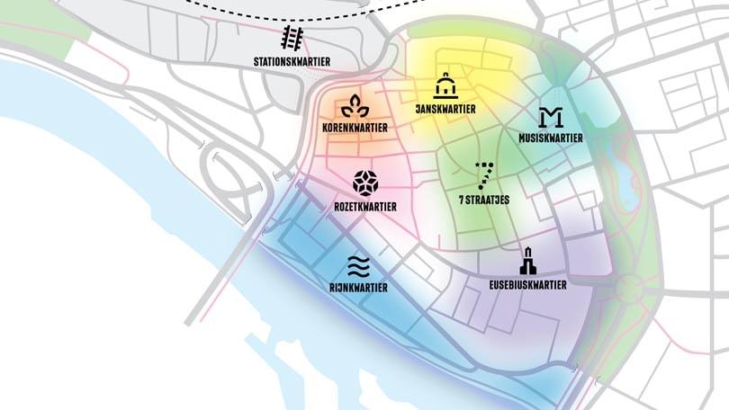 Eerste icoon kwartierenplan Arnhem geplaatst