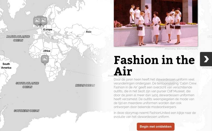 "De evolutie van het stewardessen uniform: ""Fashion in de Air"""