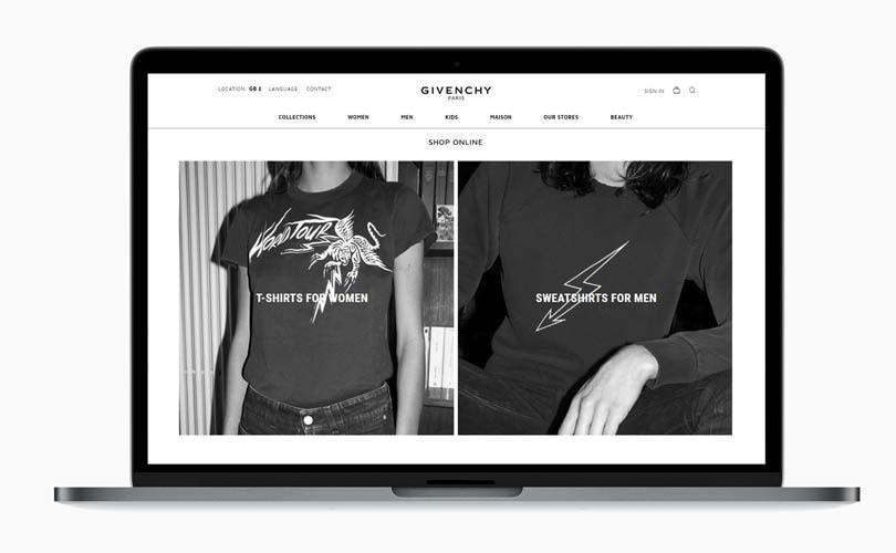 Givenchy rolt e-commerce platform uit in Nederland
