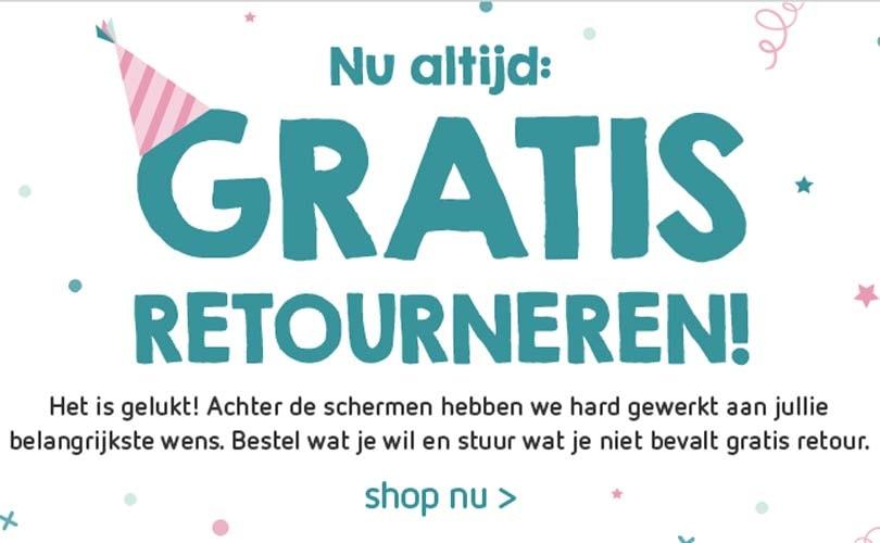 Kleertjes.com voert gratis retourneren in