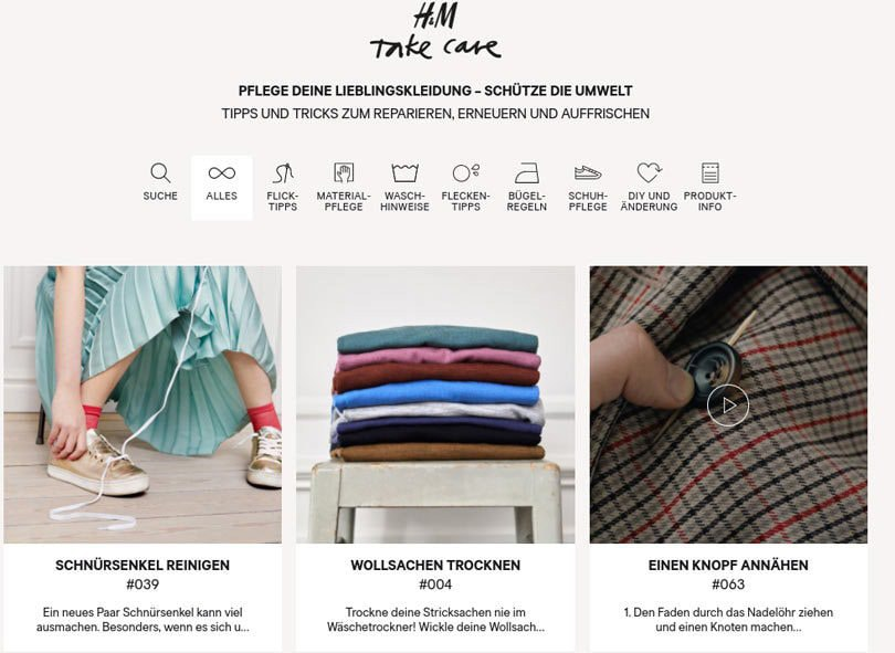 H&M lanceert 'Take Care' pilot project in Hamburg