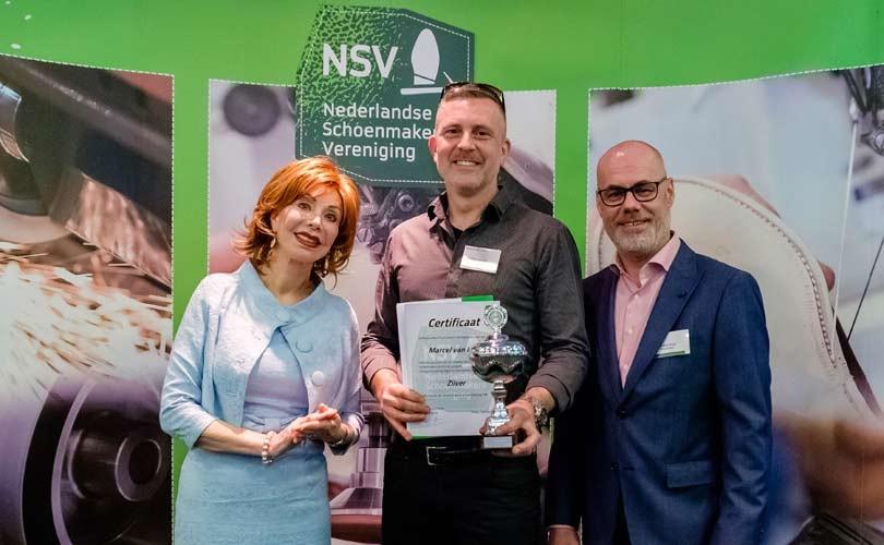 Zilver voor Marcel van Lent bij Europese Vakwedstrijd voor Schoenmakers 2018