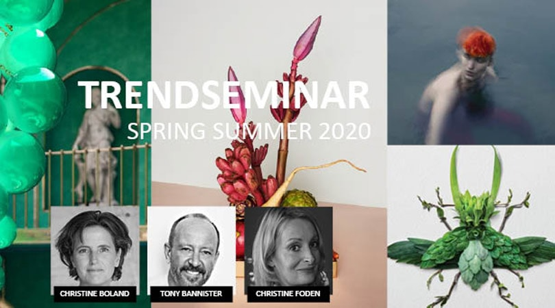 22 januari - SS2020 Trend seminar met Christine Boland, Christine Foden & Tony Bannister (SCOUT)!
