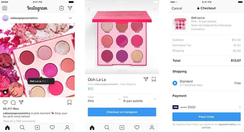 Instagram test direct kopen in de Verenigde Staten