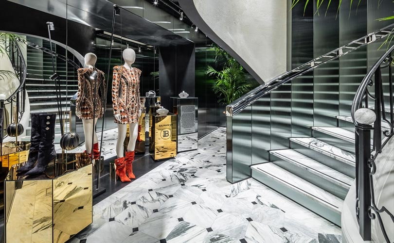 In beeld: het nieuwe winkelconcept van Balmain