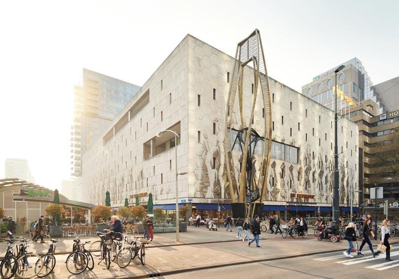 Bijenkorf Rotterdam: gevelaanzicht hersteld, damesmode afdeling vernieuwd
