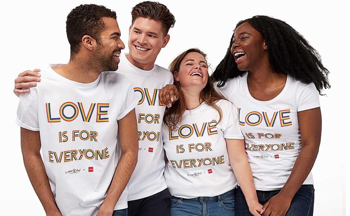 Viktor & Rolf ontwerpt Pride T-shirts voor Hema