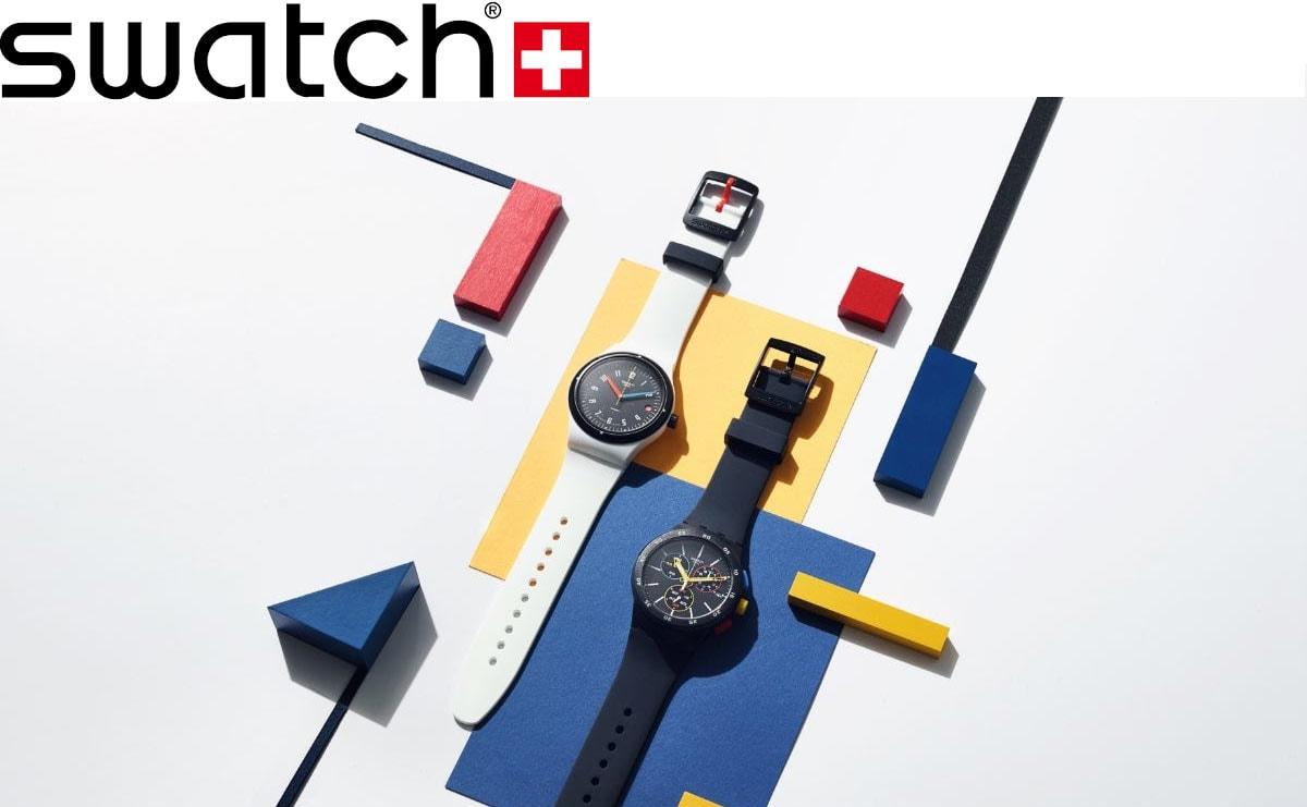 Najaarscollectie van Swatch is een eerbetoon aan Bauhaus, Zwitserland en royalty's