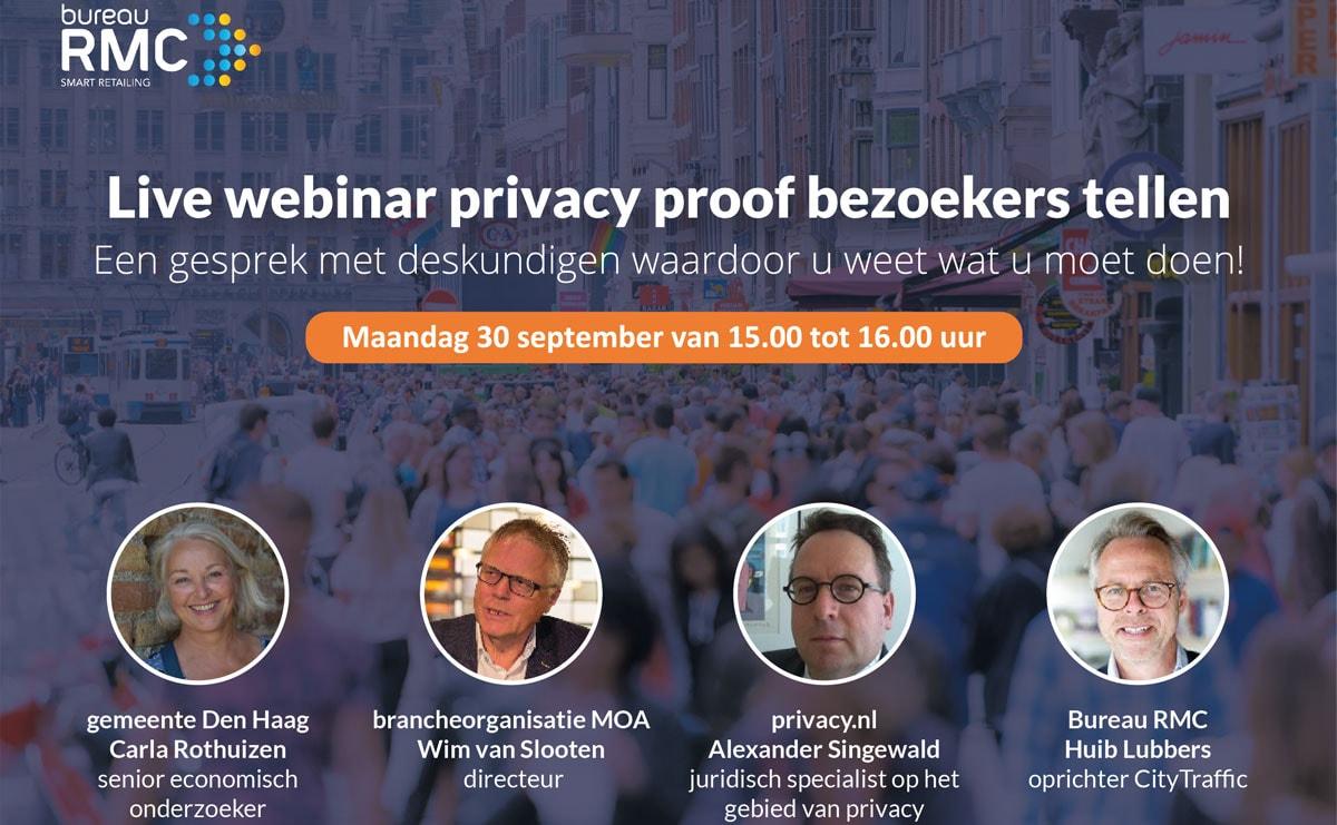 Webinar privacy proof bezoekers tellen door Bureau RMC