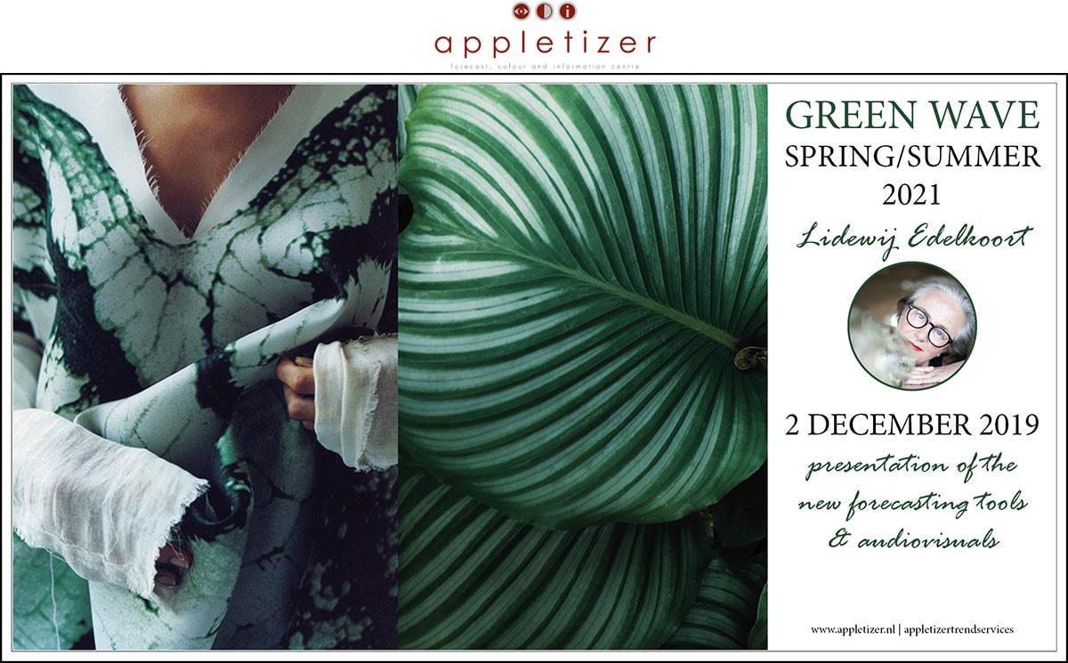 Lidewij Edelkoort trendseminar Green Wave SS21 op 2 december