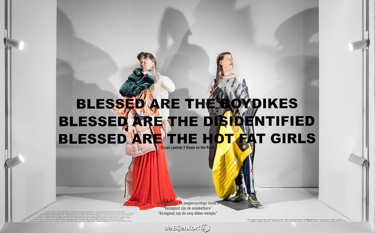 Duran Lantink maakt outfits van oude voorraad Bijenkorf