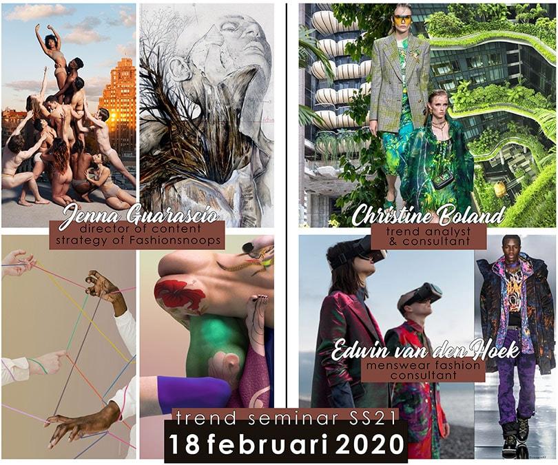 Trendseminar SS21 op 18 februari: Fashionsnoops, Christine Boland en Edwin van den Hoek