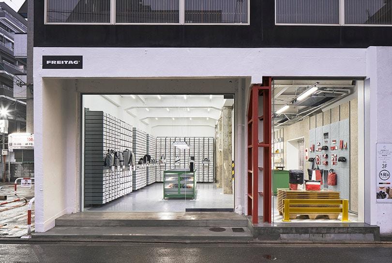 Kijken: de nieuwe Freitag winkel in Kyoto, Japan