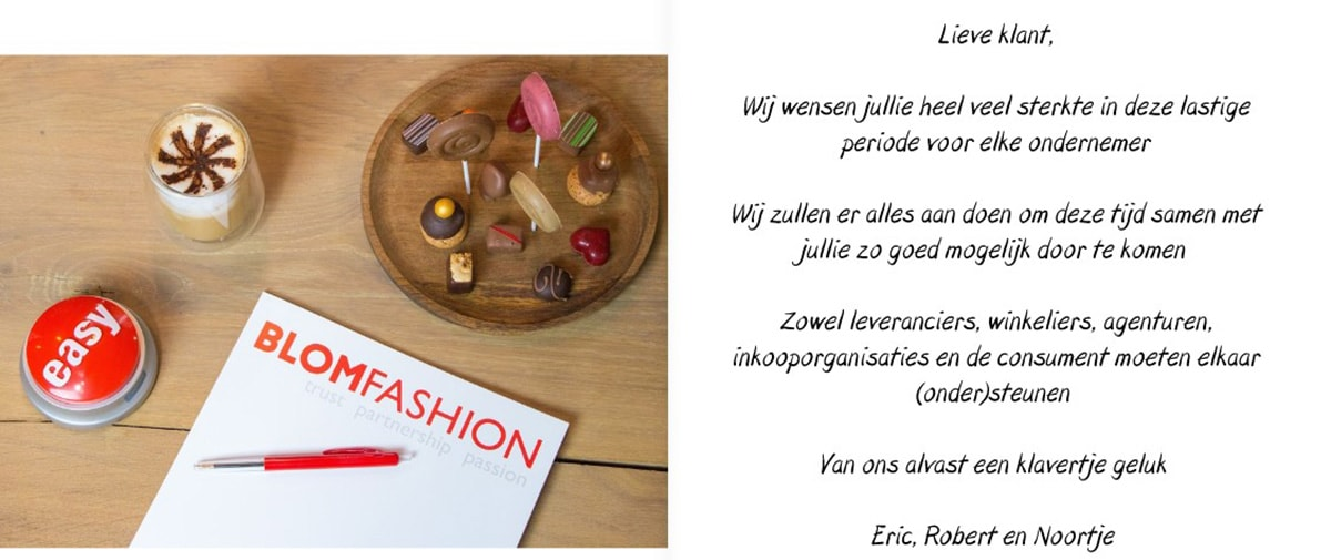 Blom Fashion staat voor: - Trust – Partnership – Passion