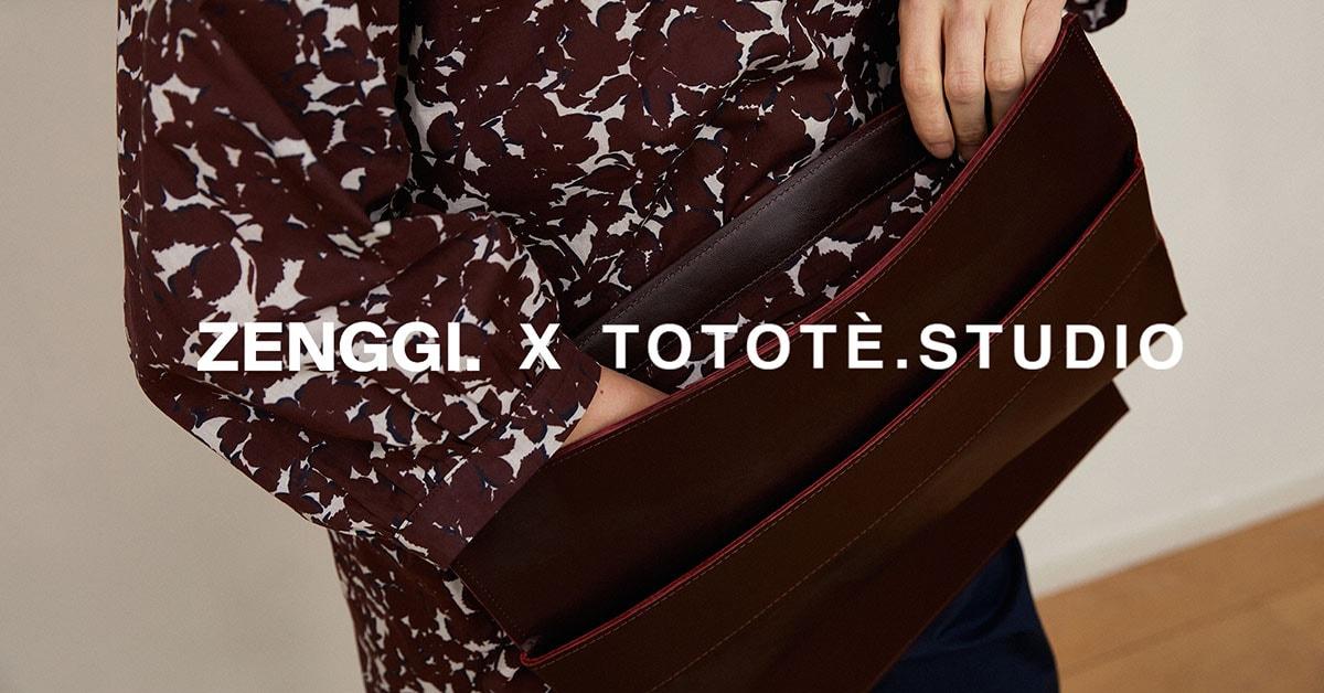 ZENGGI x Tototè.Studio lanceren co-ontworpen upcycled en ethisch geproduceerde laptop sleeve collectie