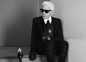 Bijna te koop: Karl Lagerfeld Barbie