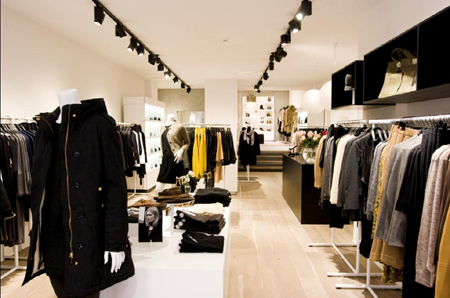 Shop-in-shops voor Filippa K in Bijenkorf